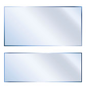 Glossy, white glass. Background, transparent texture. Clean, empty plastic. Vector image. Stock Photo.