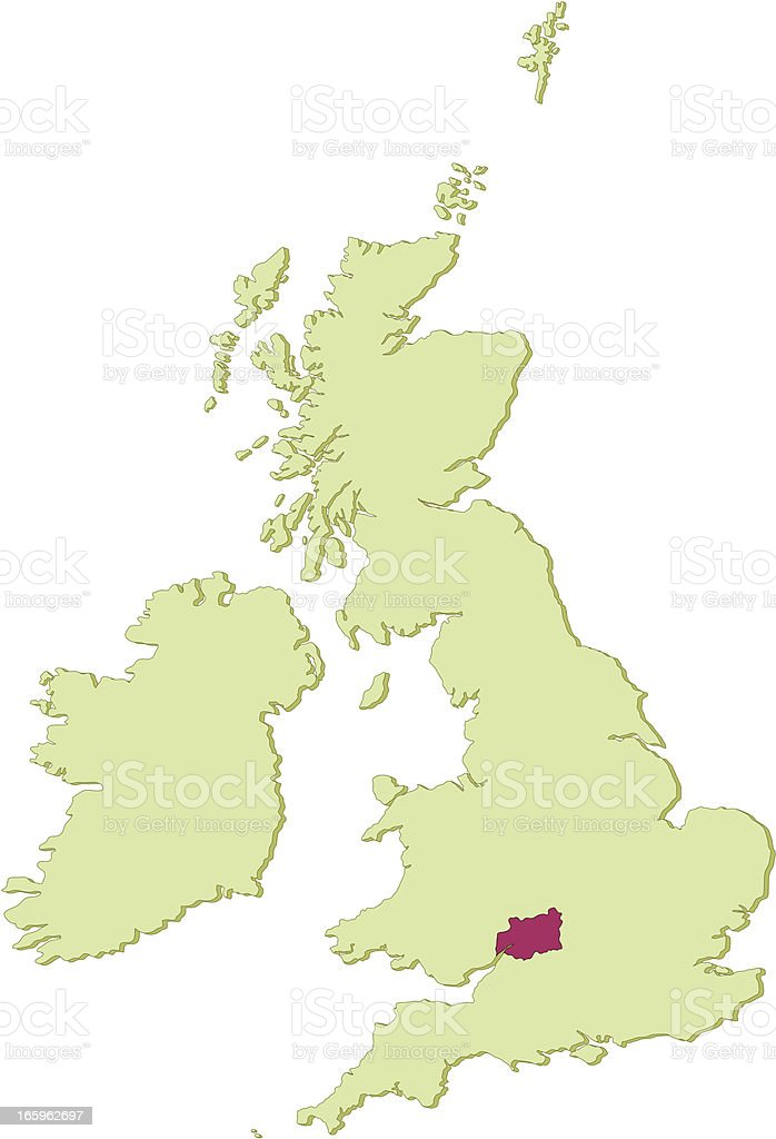 Map Of Uk Gloucester.Uk Gloucestershire Map Stock Illustration Download Image Now Istock