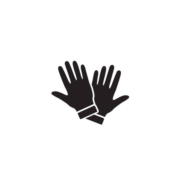 Glove Icon Symbol. Premium Quality Isolated Mitten Element In Trendy Style. Vector Glove Icon Symbol. Premium Quality Isolated Mitten Element In Trendy Style. Vector protective glove stock illustrations