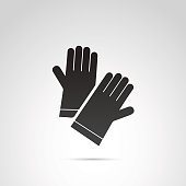 Glove vector icon.