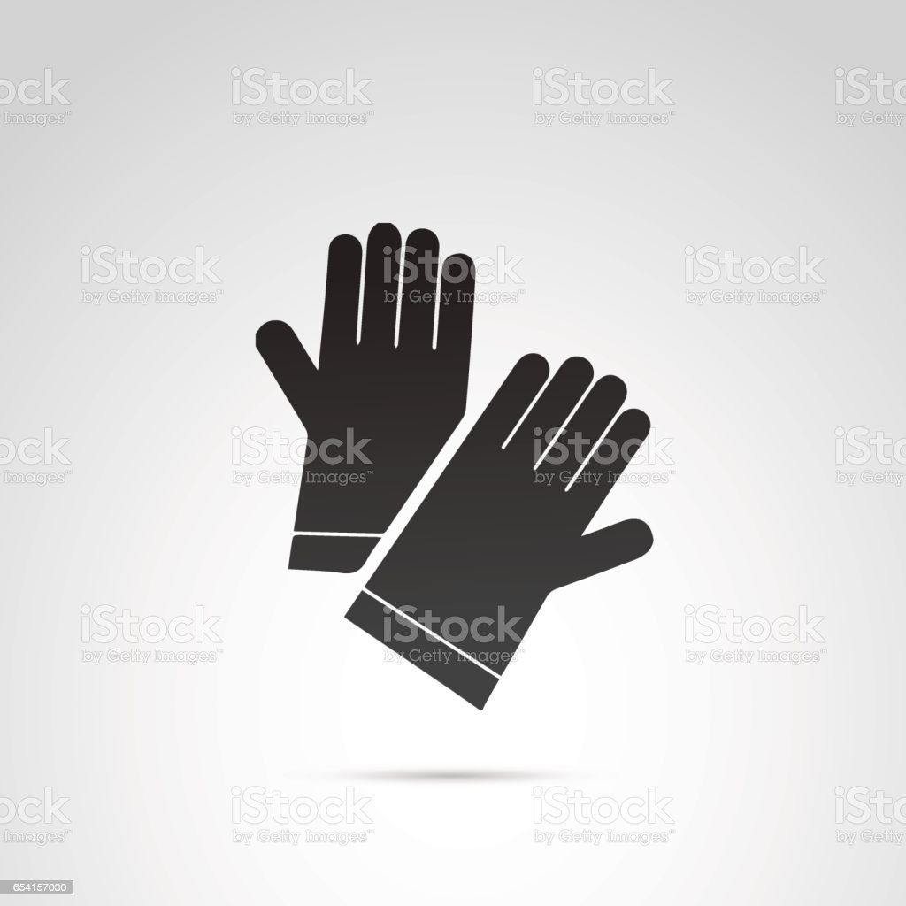Glove vector icon. vector art illustration
