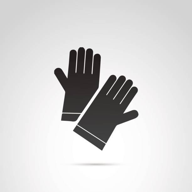 handschuh vektor icon. - schutzhandschuhe stock-grafiken, -clipart, -cartoons und -symbole