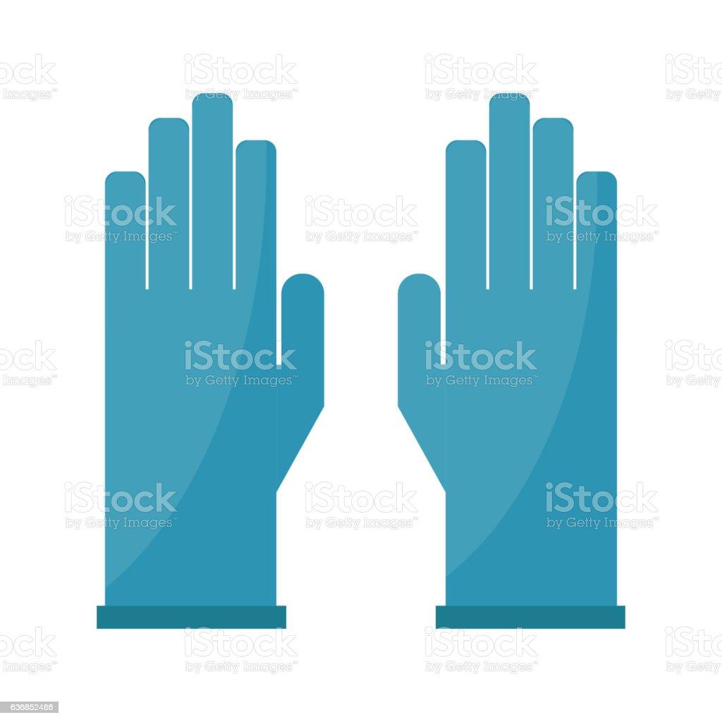 Gloves cartoon vector illustration isolated on white. vector art illustration