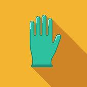 Gloves Flat Design Crime & Punishment Icon
