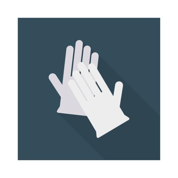 Handschuhe der hand tragen – Vektorgrafik