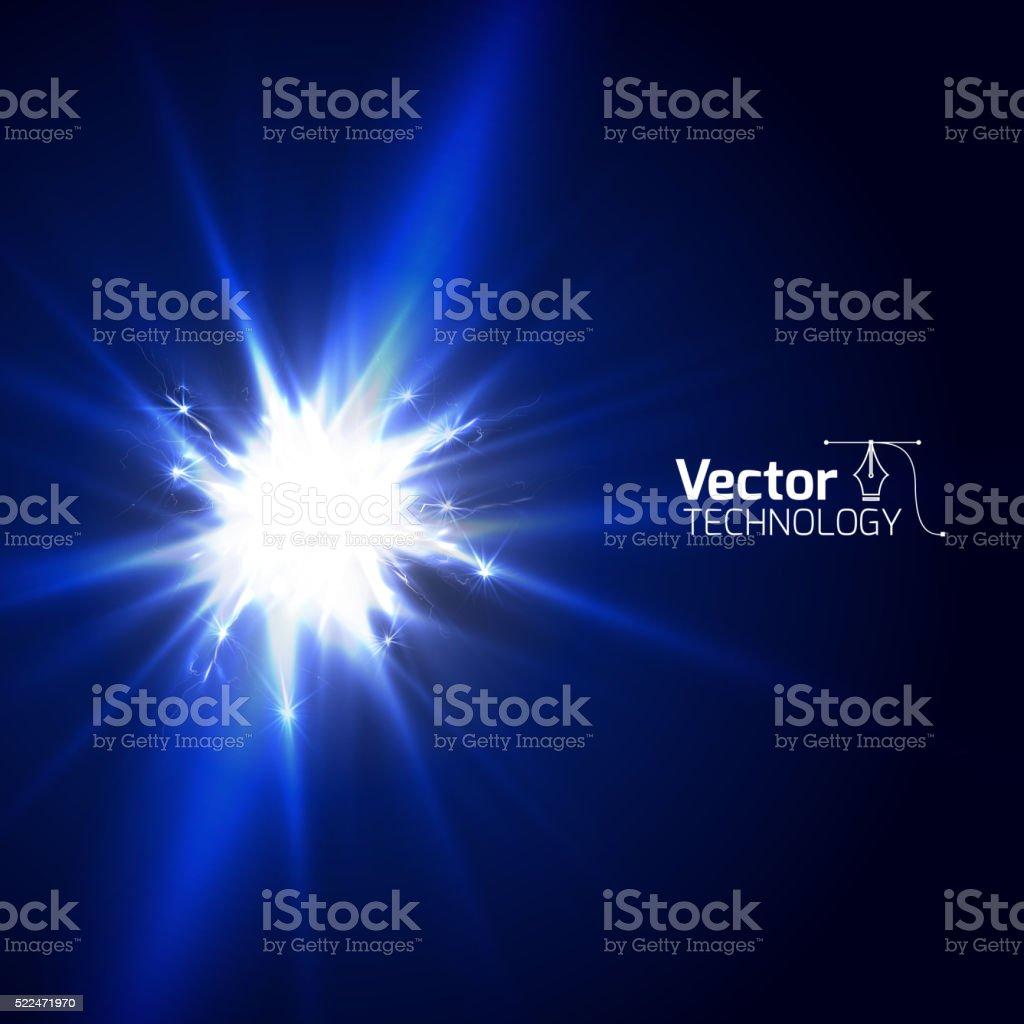 Glow discharge electricity vector art illustration