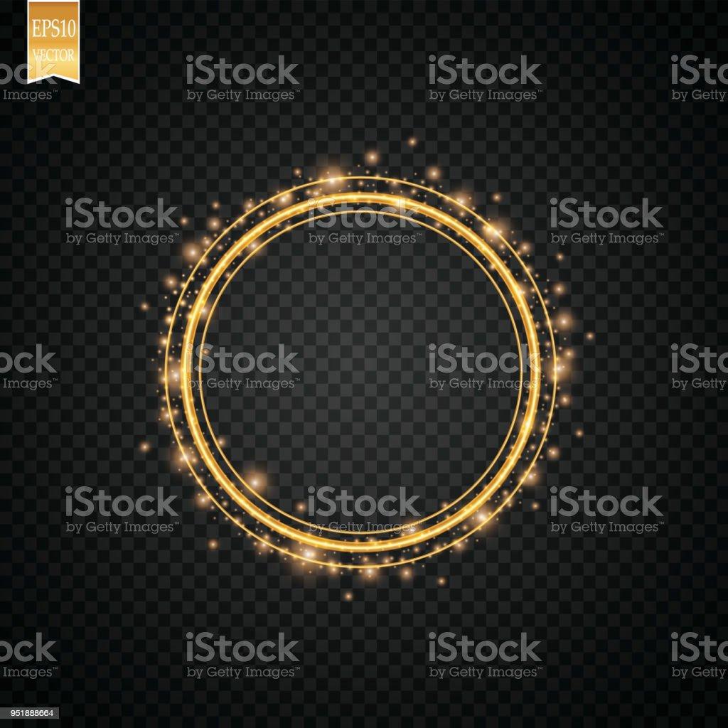 Hellen Leuchteffekt Kreisförmige Linseneffekt Abstrakte ...