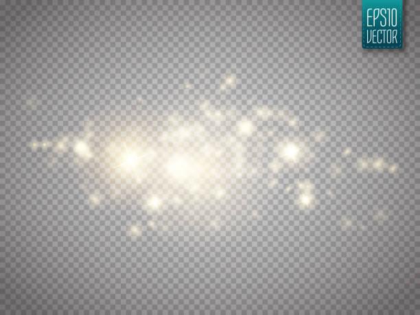эффект свечения света. облако сверкающей пыли. векторная иллюстрация. - блестящий stock illustrations