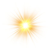 Glow light effect, explosion, glitter, spark, sun flash. Vector illustration