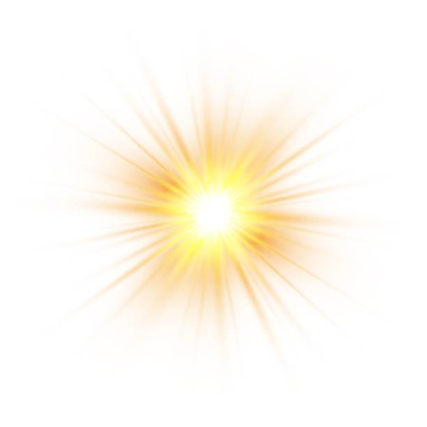 Glow light effect, explosion, glitter, spark, sun flash. Vector illustration. Glow light effect, explosion, glitter, spark, sun flash. Vector illustration explosion stock illustrations