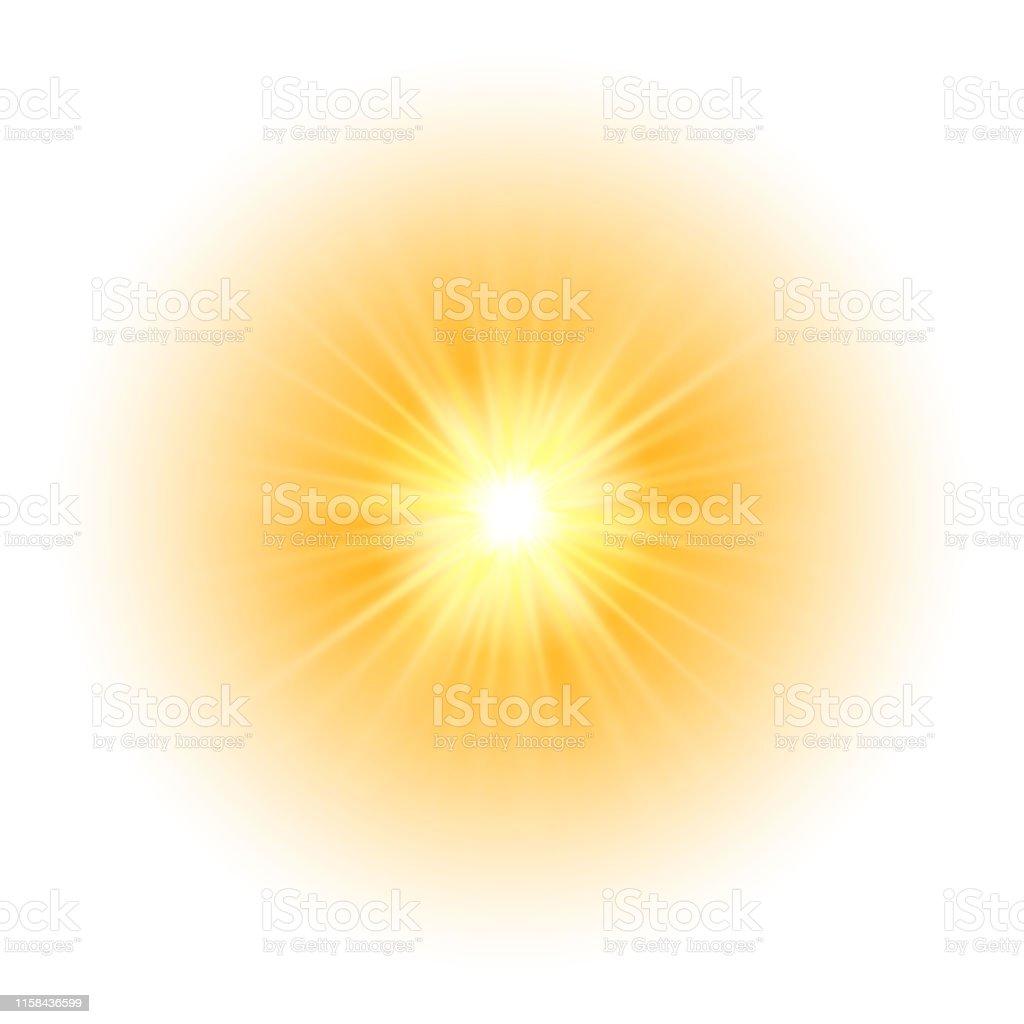 Efeito da luz do fulgor, explosão, glitter, faísca, flash do sol. Ilustração do vetor - Vetor de Abstrato royalty-free