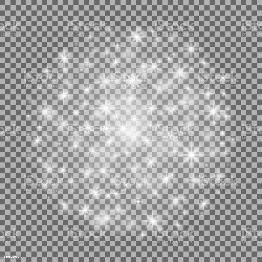 Glow light effect isolated. Vector. Christmas. Star burst with sparkles - ilustración de arte vectorial