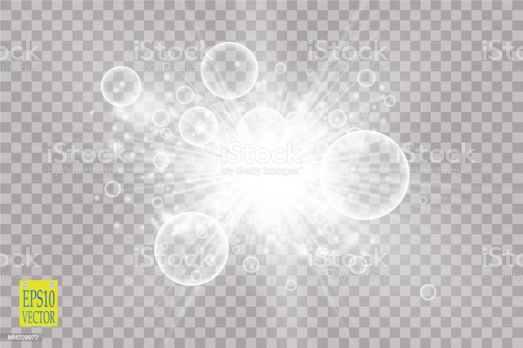 Glow light effect. Starburst with sparkles on transparent background. Vector illustration royalty-free glow light effect starburst with sparkles on transparent background vector illustration stock vector art & more images of abstract