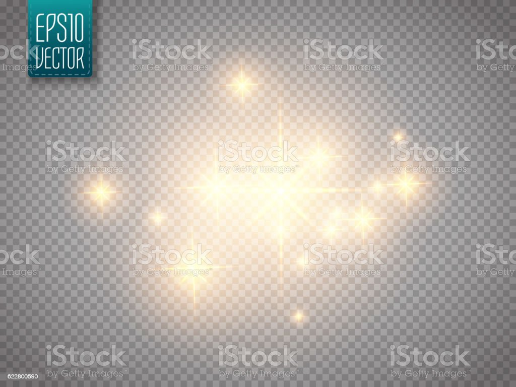 Glow light effect. Vector Christmas flash Concept.