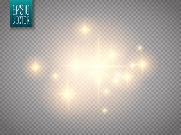 bildbanksillustrationer, clip art samt tecknat material och ikoner med glow light effect. vector christmas flash concept. - christmas decoration golden star