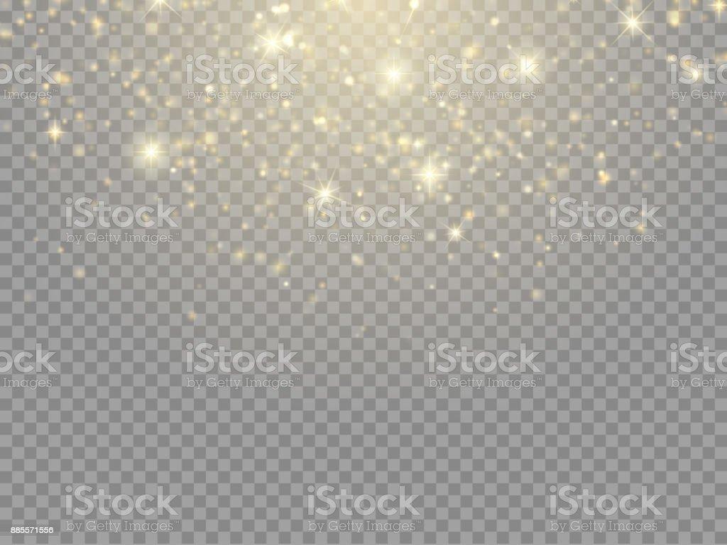 Glow light effect. Vector Christmas flash Concept