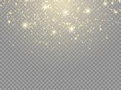 Glow light effect. Vector illustration. Christmas flash Concept