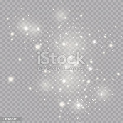 Glow light effect. Vector illustration. Christmas flash Concept.Eps10