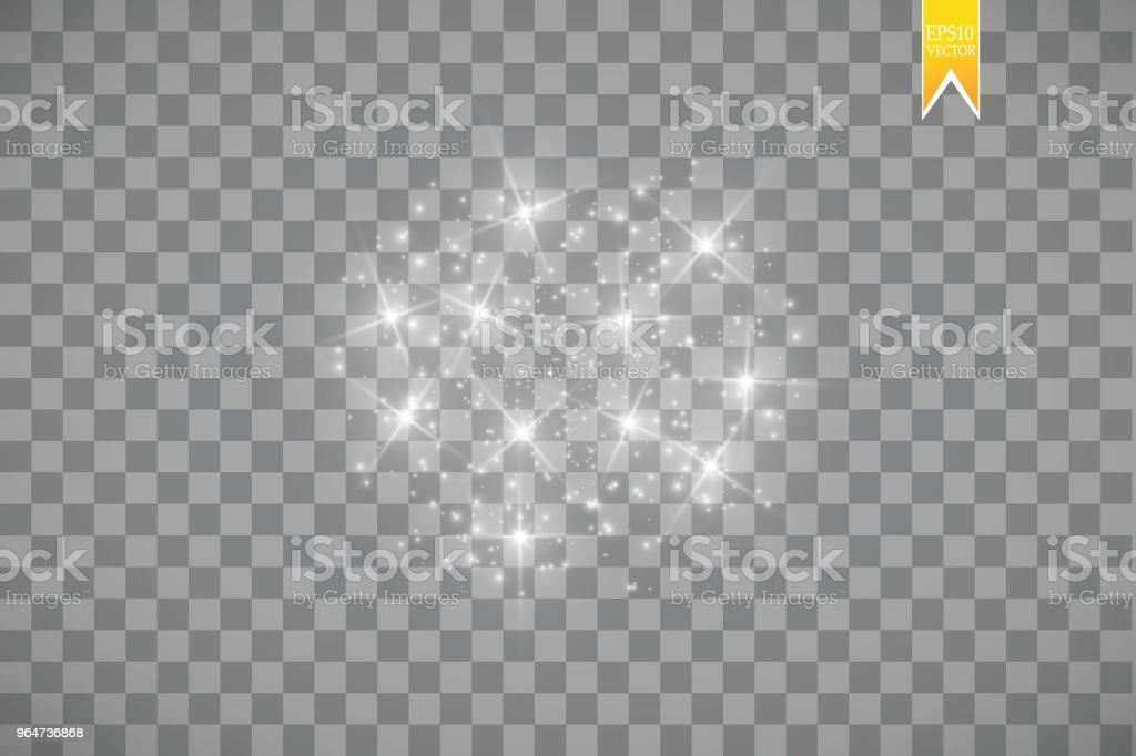 Glow light effect. Vector illustration. Christmas flash. dust royalty-free glow light effect vector illustration christmas flash dust stock vector art & more images of abstract