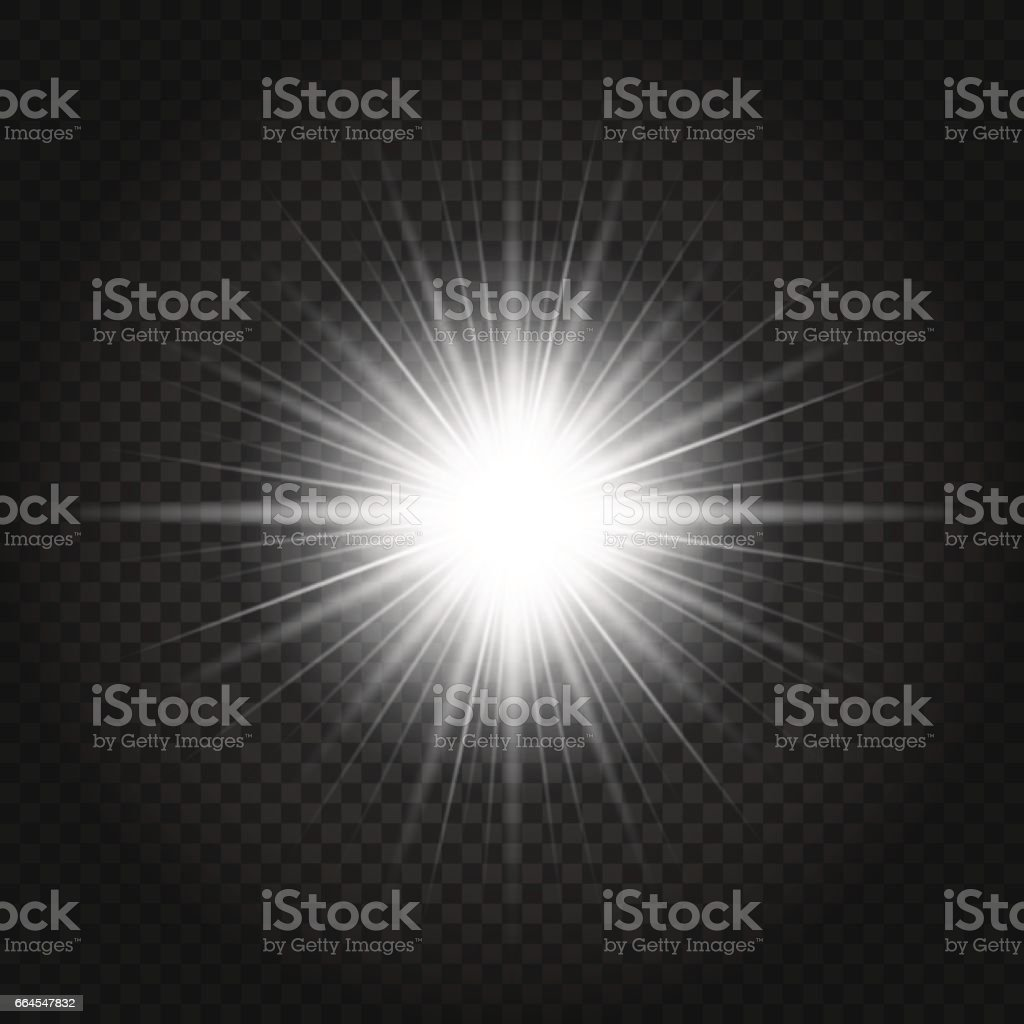 Glow Light Effect White Sun With Rays On Transparent Background ... for Sun Light Effect Background  181pct