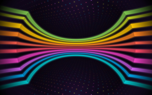 Glow Lines Abstract Background