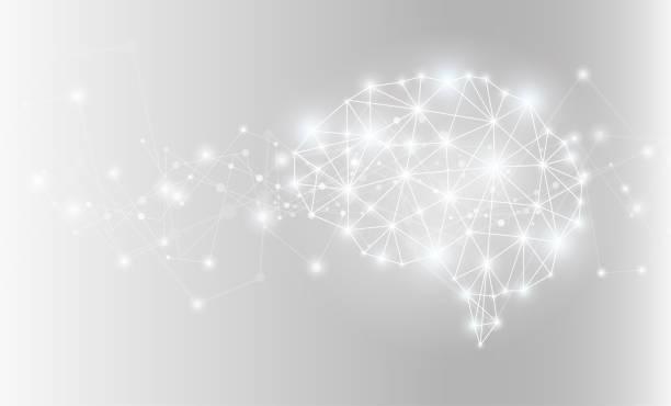 ilustraciones, imágenes clip art, dibujos animados e iconos de stock de red de cerebro ai que brilla intensamente. ilustración de vector. - brain