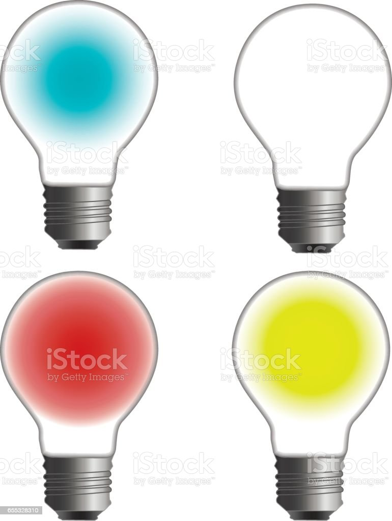 Glowing and turned off electric light bulb stock vector art more glowing and turned off electric light bulb royalty free glowing and turned off electric light publicscrutiny Images