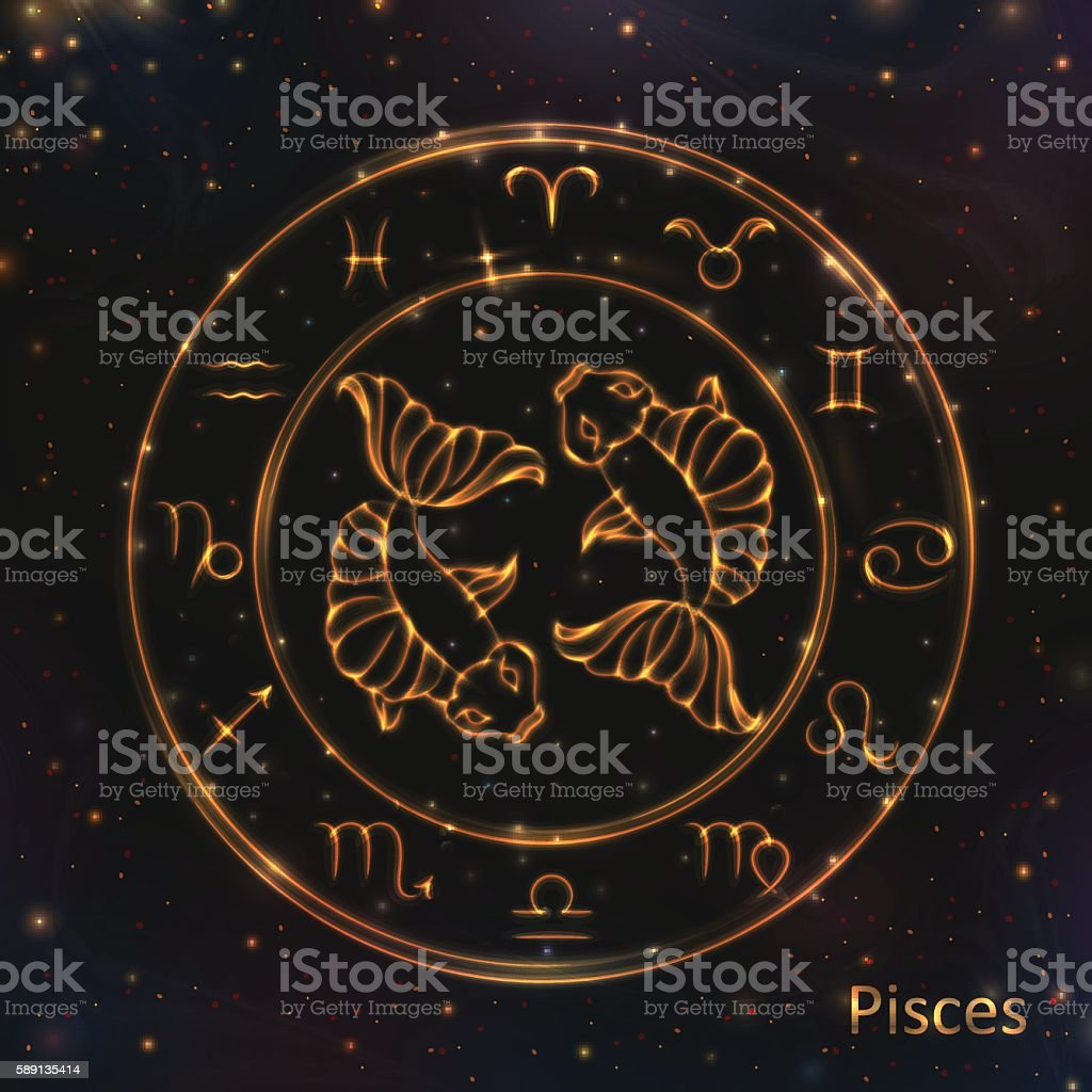 ed0cbf8f7 Circle, Constellation, Galaxy, Gold, Moon. Glowing Astrology Zodiac Signs  ...