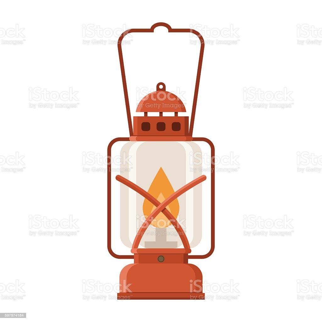 Glowing Camping Lantern Royalty Free Stock Vector Art