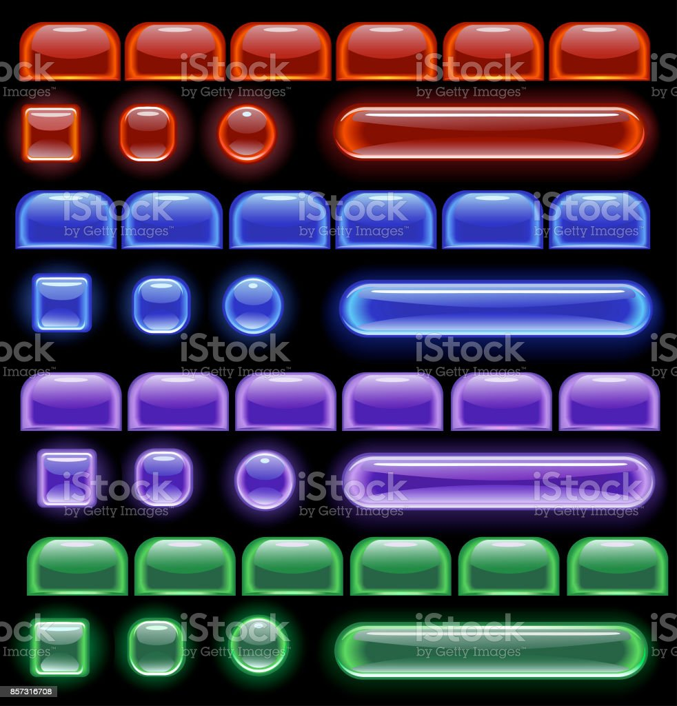 glowing computer icon vector art illustration