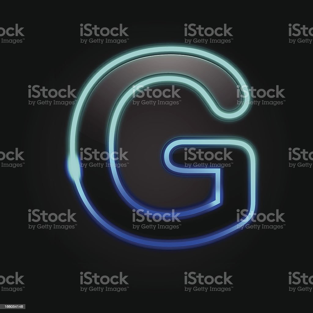 Glowing Font - G royalty-free glowing font g stock vector art & more images of alphabet