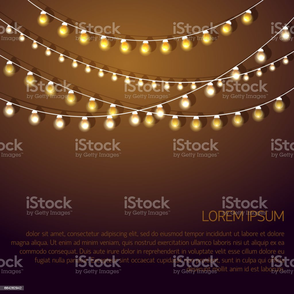 Glowing garland Vector illustration vector art illustration