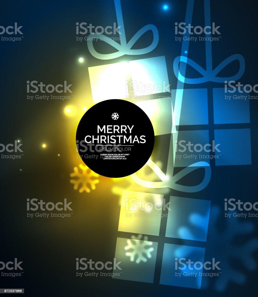 Cajas De Regalo Brillante Con Copos De Nieve Navidad Y Año Nuevo ...