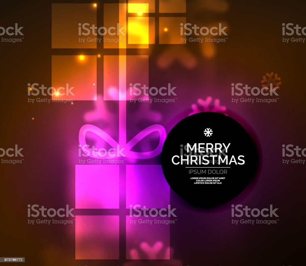 glowing gift boxes with snowflakes christmas and new year template