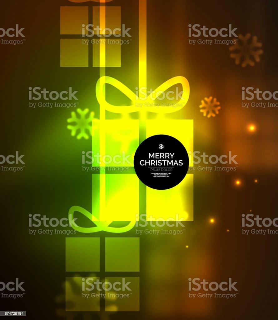 Ilustración de Cajas De Regalo Brillante Con Copos De Nieve Navidad ...