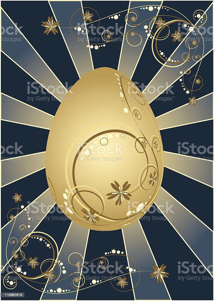 Glowing golden egg royalty-free stock vector art