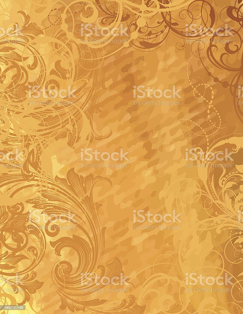 Glowing Golden Scroll Page royalty-free stock vector art