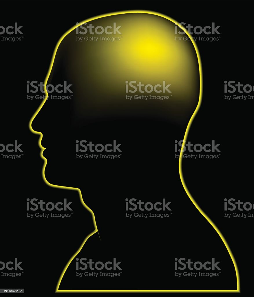Glowing  Head royalty-free glowing head stock vector art & more images of concentration