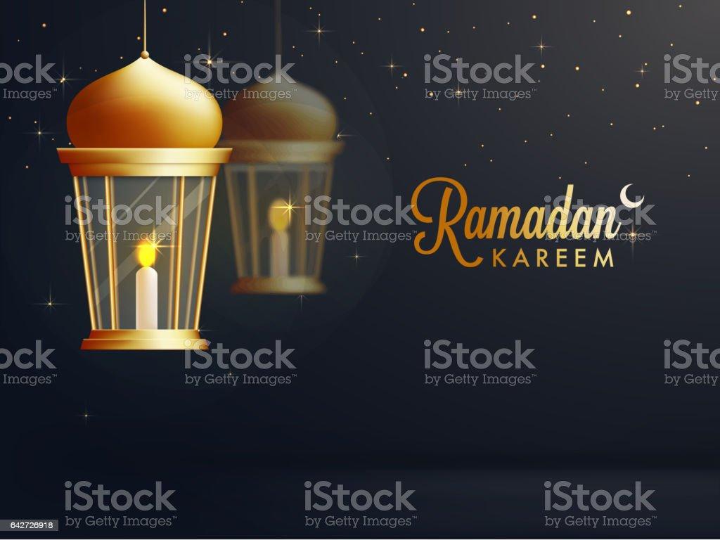 Rougeoyant Lumineux Lampe Suspendue Pour Le Mois Sacre Islamique