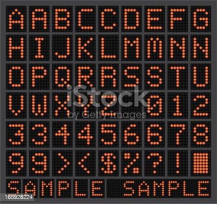 istock Glowing LED Alphabet 165928224