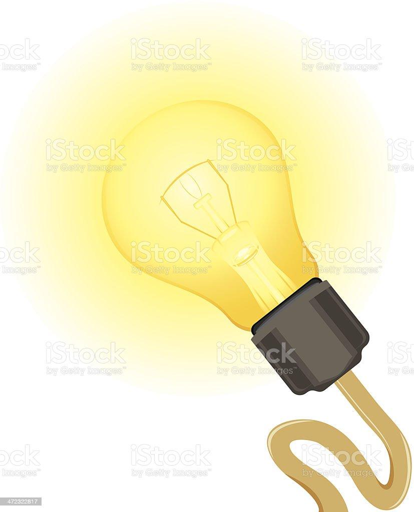 Glowing light bulb royalty-free stock vector art