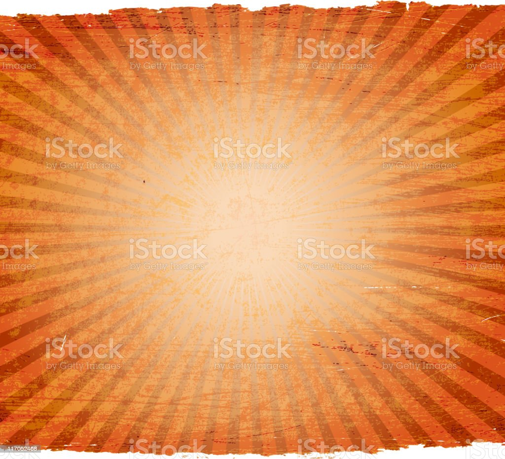 glowing light on grunge paper Background royalty-free glowing light on grunge paper background stock vector art & more images of brown