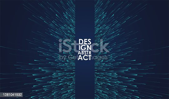 istock Glowing lines background 1281041532