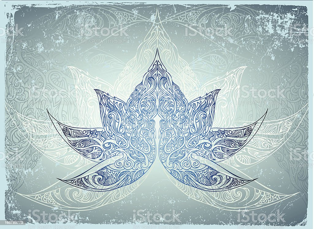 glowing lotus royalty-free stock vector art