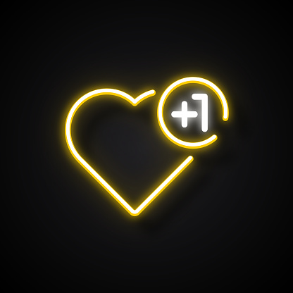 Glowing Neon Effect Social Media Icon. Outline Symbol Collection