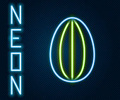 Glowing neon line Easter egg icon isolated on black background. Happy Easter. Colorful outline concept. Vector Illustration