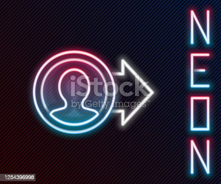 Glowing neon line Job promotion icon isolated on black background. Success, achievement, motivation business symbol, growth. Colorful outline concept. Vector Illustration