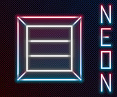 Glowing neon line Wooden box icon isolated on black background. Colorful outline concept. Vector Illustration