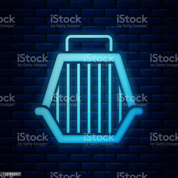 Glowing neon pet carry case icon isolated on brick wall background vector id1191633327?b=1&k=6&m=1191633327&s=612x612&h=sq76 mal r641grcxh9awuwqpvqkpbcspl7l1wokkoa=