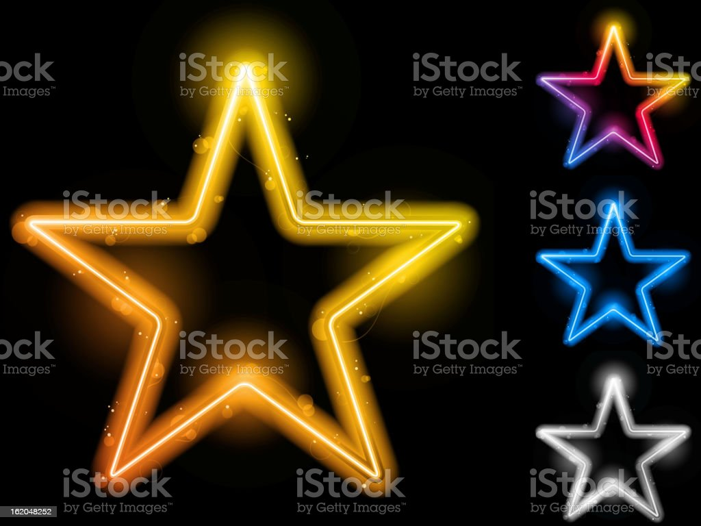 Glowing Neon Stars Background royalty-free glowing neon stars background stock vector art & more images of abstract